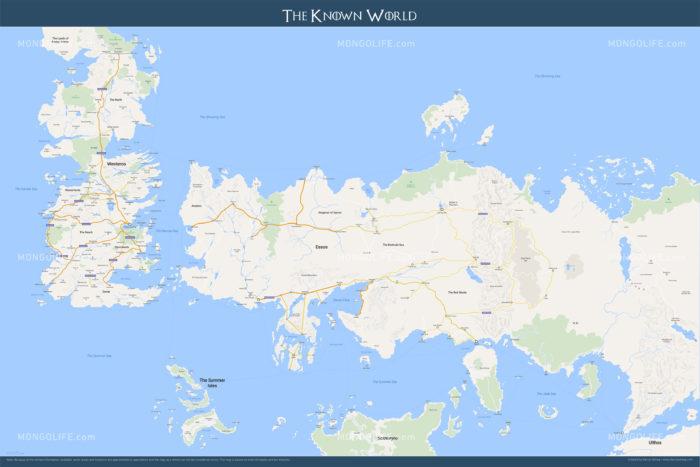 このうち、西側にあるウェスタロス大陸が主な舞台となります。